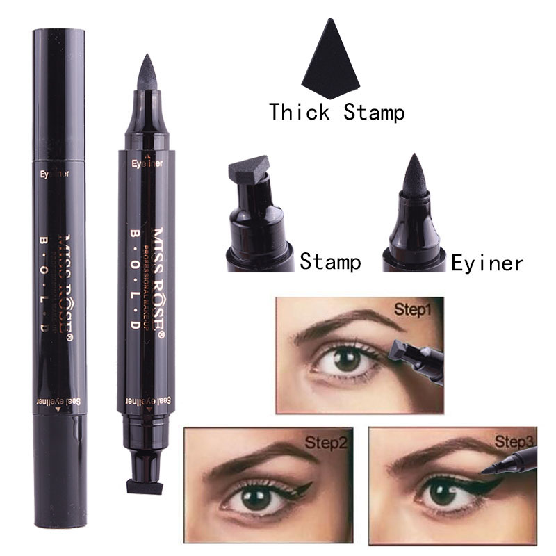 Sporting Music Flower Tattoo Seal Makeup Liquid Eyeliner Pencil Maquiagem Quick Dry Waterproof Wing Eye Liner With Stamp Eye Pencil Back To Search Resultsbeauty & Health