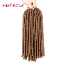Miss Rola Pure Color 27# Soft Dread Lock Hair 15roots/pack 75g Kanekalon Low Temperature Synthetic Curly Crochet Braiding Hair(China)