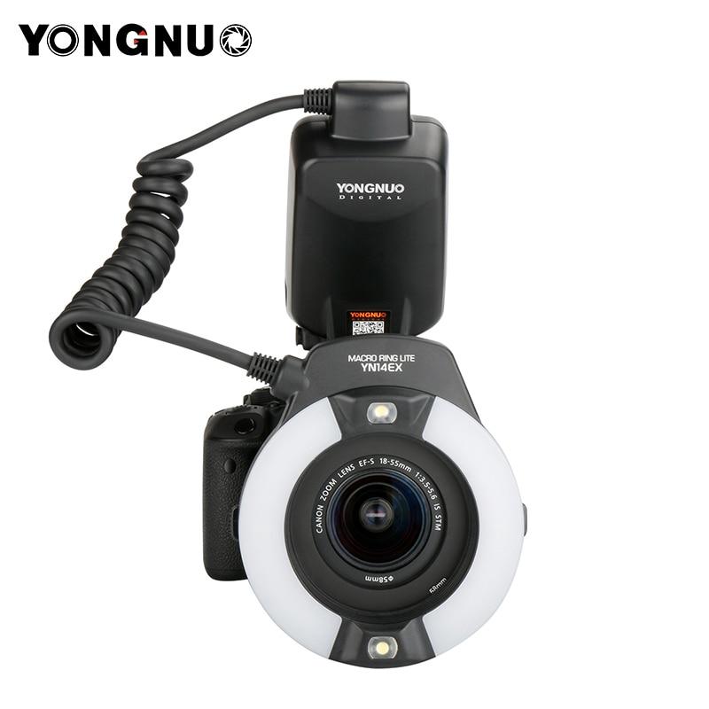 YONGNUO yn24ex e TTL Twin Lite Макро Вспышка Speedlite для камер Canon с двойной 2 шт. головка вспышки + 4 шт. переходные кольца