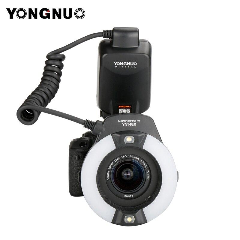 Yongnuo YN24EX E TTL Twin Lite Macro Flash Speedlite per Canon Camera con 2 pz Testa del Flash + 4 pz Anelli Adattatori