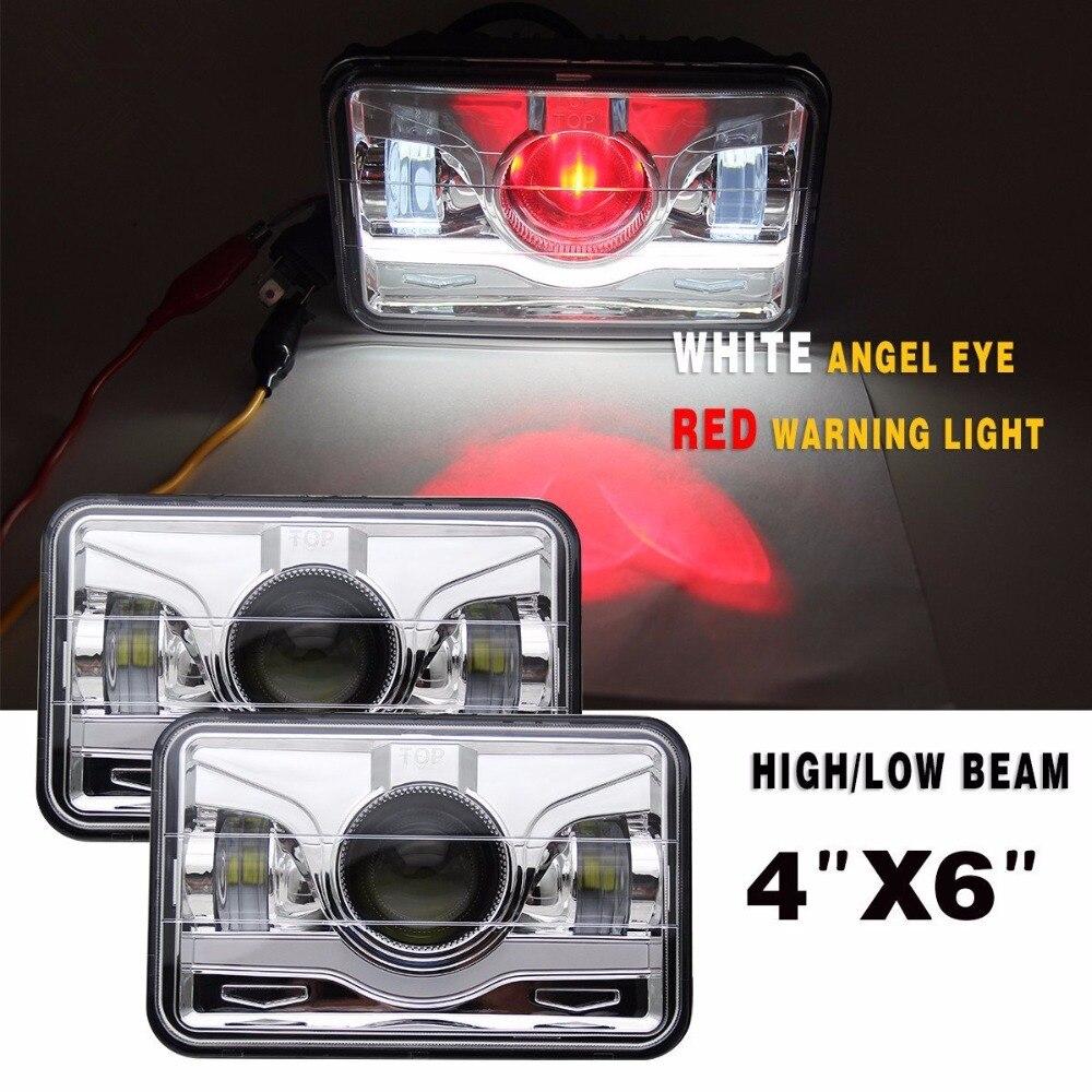 LED HID Cree Light Bulbs Crystal Clear Sealed Beam Headlamp Headlight 4x6 inches