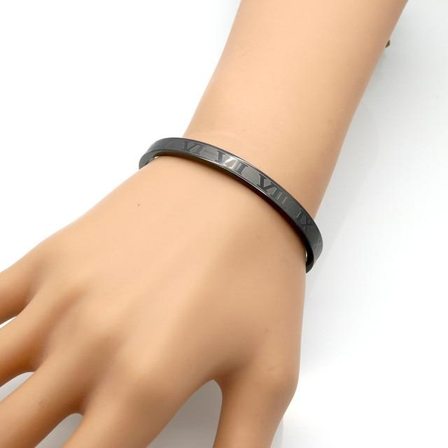 Купить браслет из титановой нержавеющей стали с римскими цифрами браслет картинки