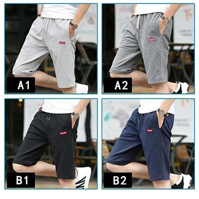 Новые мужские шорты для отдыха, пляжные волейбольные шорты размера плюс 4XL - Цвет: B2