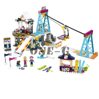 Building blocks 01042 Compatible with legoingly Friends 41324 Bricks Princess Snow Resort Ski Lift figures toys for children