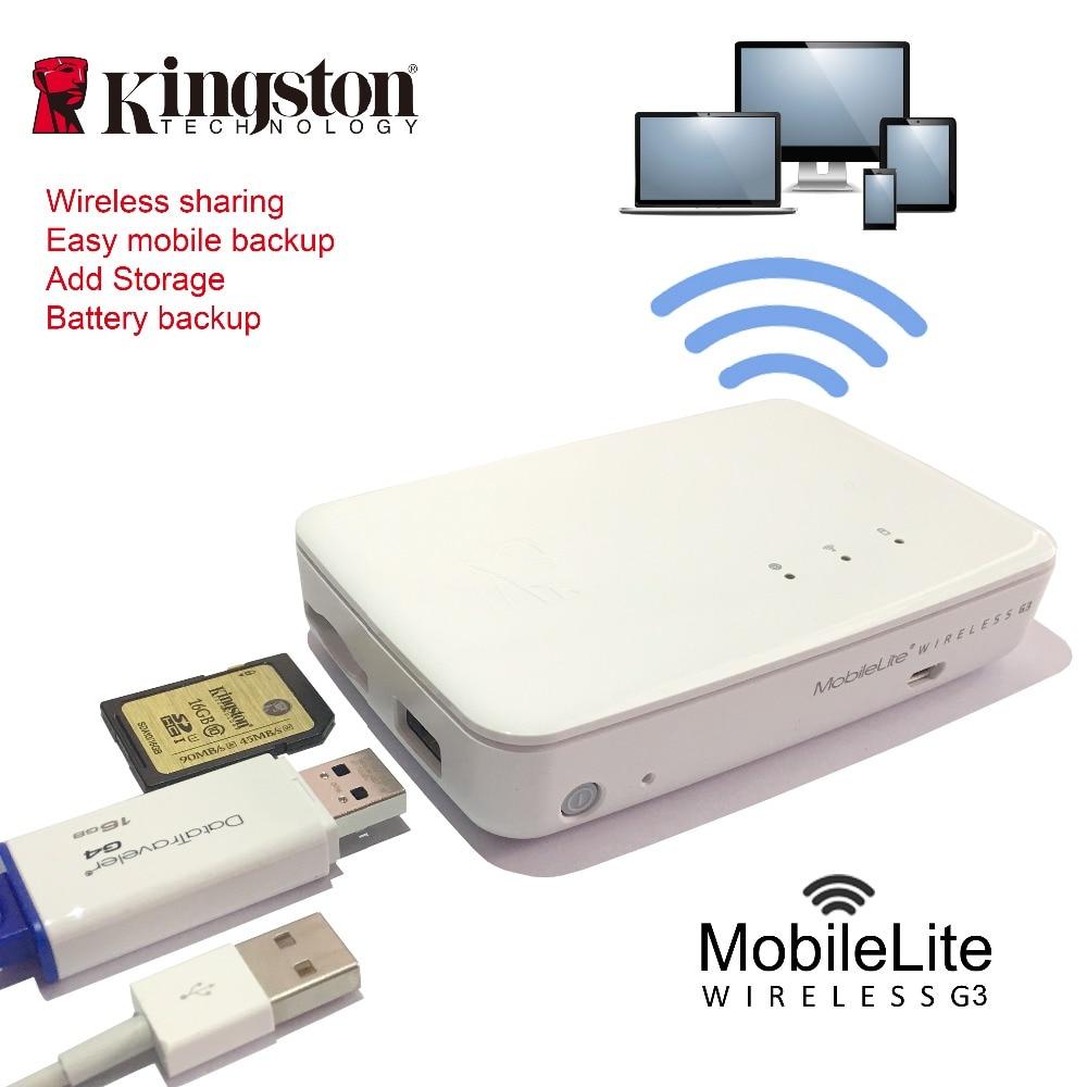 Kingston sans fil lecteur de carte Multifonction wifi émetteur de données Sans Fil dispositif de partage Il peut être utilisé comme un mobile de sauvegarde powe