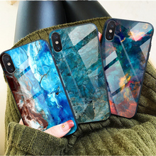 Luxury Marble Glass Phone Case iPhone X 10 XR XS Max