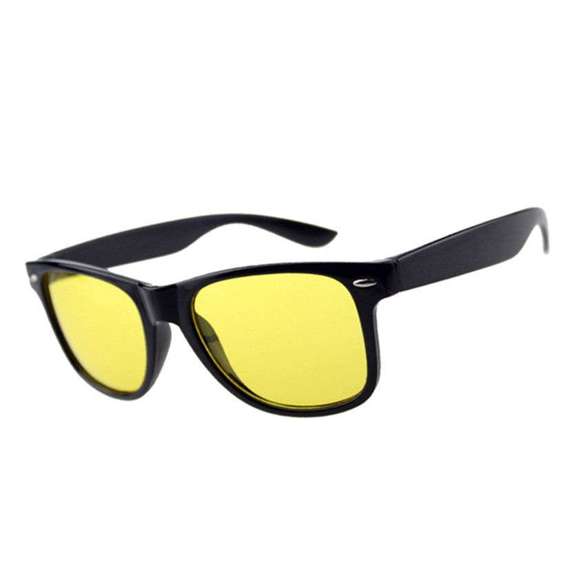 UVLAIK Visione Notturna Giallo Piazza Occhiali Da Sole Donne Degli Uomini di Guida Driver Occhiali Da Sole AC Lens Telaio PC Occhiali Rivetto Occhiali Da Sole
