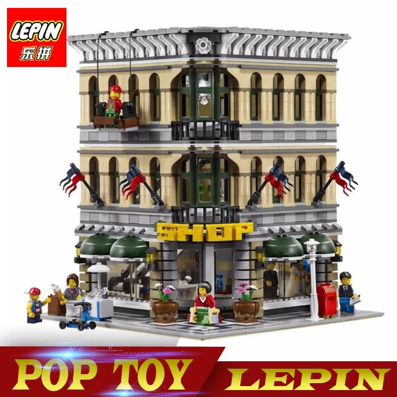 DHL Lepin 15005 2232pcs City Grand Emporium Model Building Blocks Funny Educational Brick Toys Compatible legoed 10211 цена