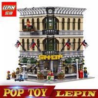 New Lepin 15005 2232pcs City Grand Emporium Model Building Blocks Funny Educational Brick Toys Compatible Legoed