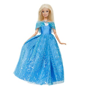 1 Pcs Fairy Tale Princess Dress Wedding Party Blue Gown Butterfly Outfit for Barbie Doll Clothes Dollhouse Toy(China)