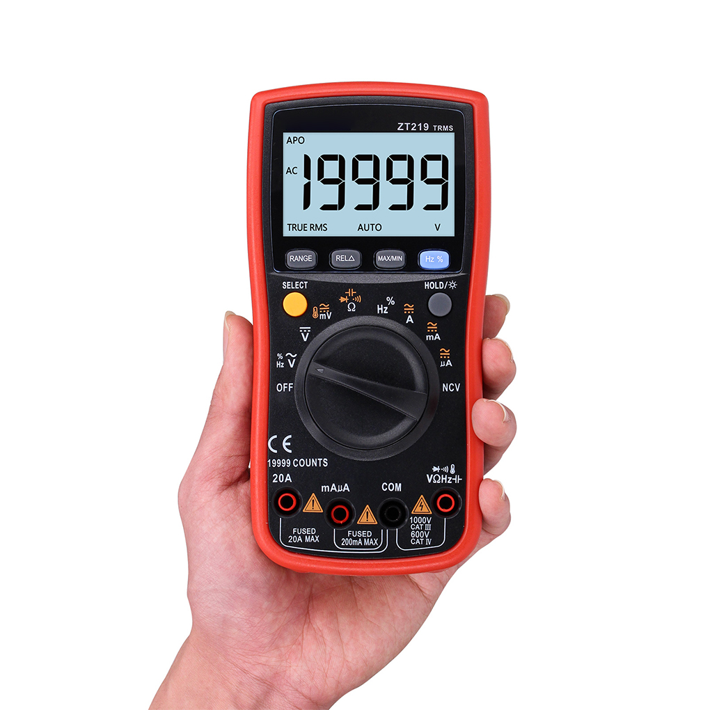 ZT219 19999 Word Digital Multimeter Automatic Range High Precision Backlit Display Digital Multimeter цена