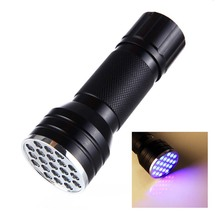 led torch 21led UV lights Urine Stain Detector  Light adhesive Flashlight Ultraviolet Lamps for ink marker sterilization lights