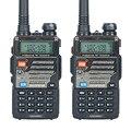 2 PCS Baofeng UV-5RE Walkie Talkie Dual Band Rádio em Dois Sentidos 5 W 128CH VHF FM VOX Dual Display comunicador de rádio