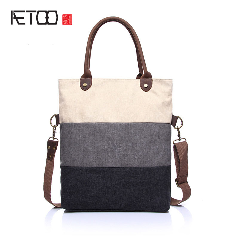 AETOO Canvas bag hand fashion handbags 2017 new women's bag Korean version of the shoulder bag hit color messenger bag 140cm real silicone sex dolls robot japanese realistic love doll sexy anime big breast vagina adult full life toys for men doll