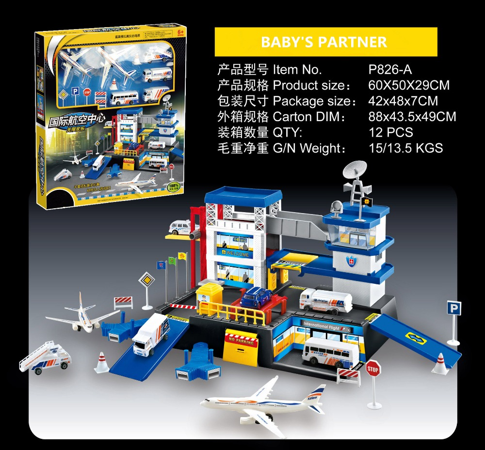 In Stock Assembling Building Miniature Aviation Airport Command Center Toy Tomica Parking Lots kids toy For Boys Birthday Gift