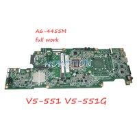 NOKOTION NBM4311001 NB.M4311.001 DA0ZRPMB6C0 Laptop Motherboard For Acer asipre V5 551 V5 551G A6 4455M CPU DDR3 Main board work