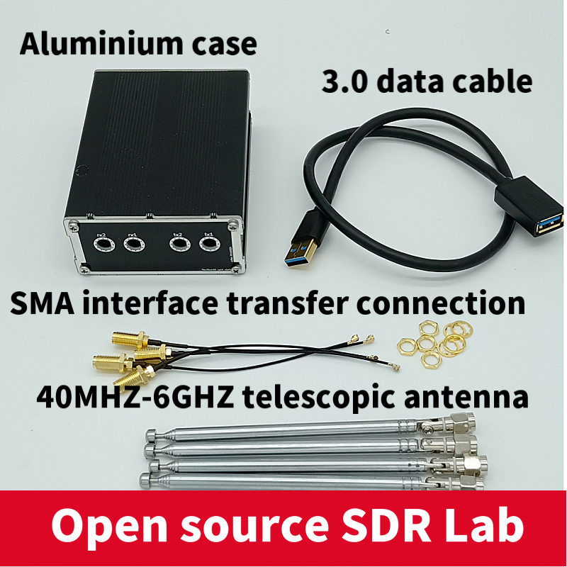 Aluminum Enclosure Black Cover case for LimeSDR Type A or Type B