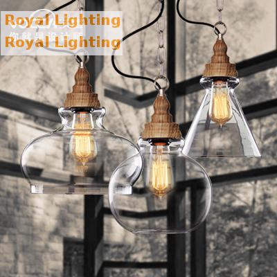 Free shipping Bar Retro glass light American Country loft style industrial lamp dining room kitchen wooden Pendant light fixture hot selling magic women s men s winter warm black full face cover three holes mask beanie hat cap wholesale cool accessory
