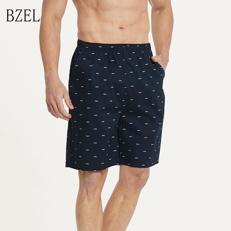 BZEL Men's Loose Sleepwear Short Pants Soft Beach Pants Men Lounge Pants Summer Pajamas Shorts Big Size 4XL 11Colors Underwear