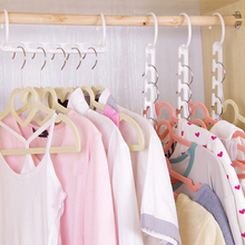 Hot 1PC Solid Overlapping Non Slip Wardrobe Door Back Clothes Rack Clothing Hangers Homen Organizer