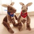 30cm Australian kangaroos Mother and son plush toy dolls children's birthday Christmas present