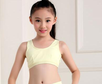 Kids Cotton Bra 1008 Teen Girl Wireless Sports Training Underwear Child Lingerie Tops Student Casual Seamless Bikini In Bras From Mother Kids On