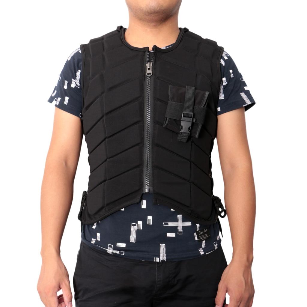 EVA Men Women Kids Deluxe Equestrian Horse Riding Safety Vest Eventer Body Protector S M L