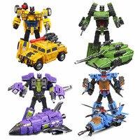 Quality Transformation Robot to Car Tank Plane Model Transform Toys Boys Develop DIY Toys Birthday Gift