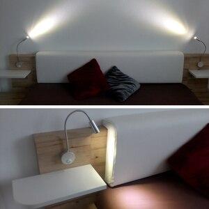 Image 5 - Morden applique murale, blanc argenté noir, à col de cygne flexible, à 360 degrés, pour chambre à coucher, couloir, 3W EUplug