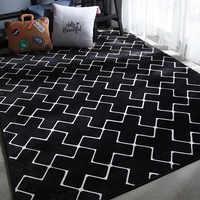 Tapis pour chambre tapis noir pour salon tappeto alfombra tapis dywan tapis salon tapete para sala chambre Rectangle tapis