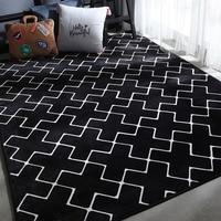 ルームのため黒ラグ tappeto alfombra じゅうたん dywan じゅうたんサロン tapete パラサラ chambre 長方形カーペット -