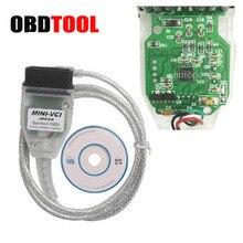 Mini VCI J2534 arayüzü MINI VCI V15.00.0 USB teşhis kablosu Toyota TIS Techstream V15.00.028 OBD2 16pin tarayıcı