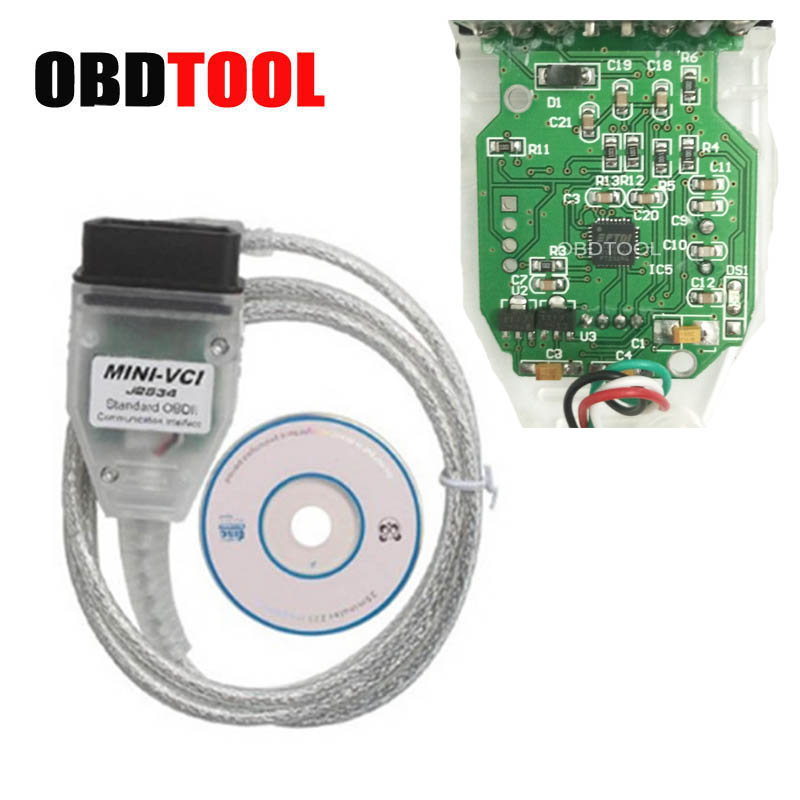 ObdTooL FTDI Chip V13.00.022 Mini-VCI J2534 Interface Mini VCI USB Cable For Toyota TIS Techstream Auto Diagnostic Tools цена