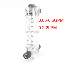 LZT-15T Регулируемый Расходомер Жидкости 0.05-0.5GPM 0.2 0,2-2LPM Воды Расходомером