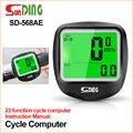 Sunding SD-568AE велосипедный компьютер велосипедные компьютеры велосипедный Спидометр беспроводной водонепроницаемый секундомер одометр ЖК-По...
