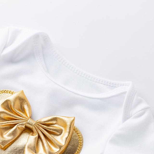 Baby Girl's Cotton Rompers and Ruffles Tutu Skirt