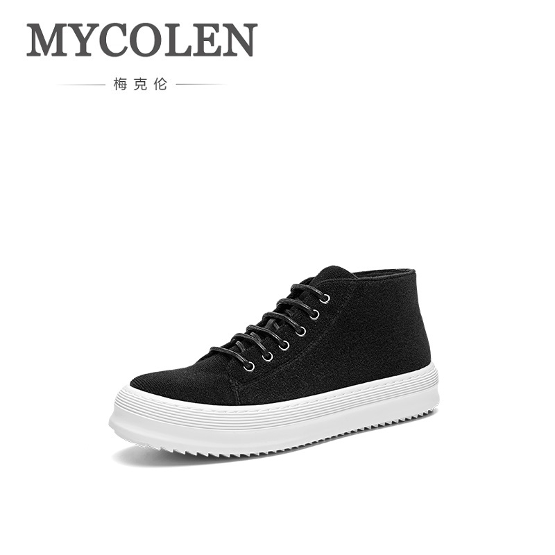 MYCOLEN 2018 New Arrivals Spring Autumn Mens Waterproof Casual Shoes Men Lace-Up Man High Top Flat Shoes Chaussures Homme Sport 2016 new trend luxury brand high top man shoes flat fashion mixed color lace up spring autumn leather man casual shoes patchwork page 3