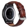V-moro s2 classic banda de cuero genuino correa de reloj de engranajes reemplazo pulsera para samsung gear s2 classic r732 watch