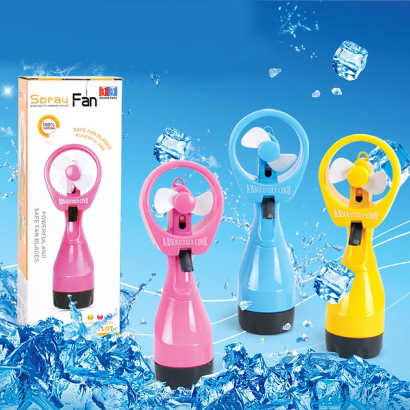 2017 New Portable Hand held Cooling Cool Water Spray Misting Fan Mist Travel Beach 77 portable humidifier fan misting cooling fan with oil diffuser powered by 18650 batteries 3 colors skin care