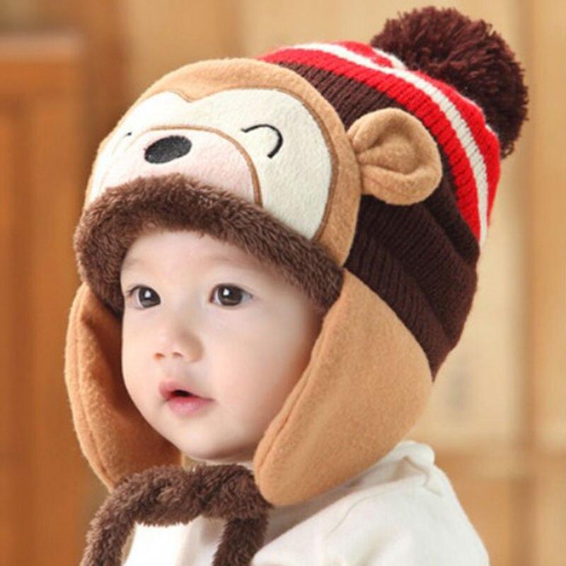 Winter Tier Affe Hut + Schal Für Kinder Kinder Aviator warme Mütze ...
