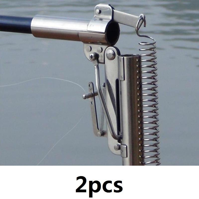 2pcs / lot 스테인레스 스틸 자동 낚시 막대 2.1m 2.4m 2.7m - 어업