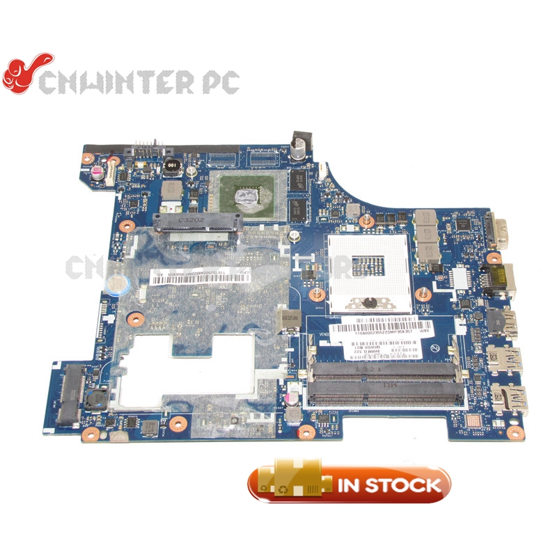 NOKOTION QIWG6 LA-7988P Main board For Lenovo G580 Laptop Motherboard 90002355 HM76 DDR3 GT710M Video Card la 7982p laptop motherboard for lenovo g580 p580 p585l main board hm76 gma hd ddr3