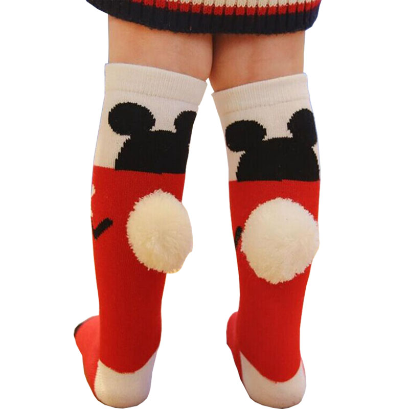 Baby Knee-High Socks Cartoon Mouse Cute Autumn/Winter Children Unisex Kids Hose Leg Warmer Socks LYc869 For 1-6Y