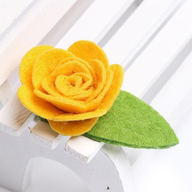 Boutique-ins 10 Clips à fleurs roses en feutre   Jolis Clips pour cheveux, Barrettes pour cheveux princesse, accessoires pour cheveux