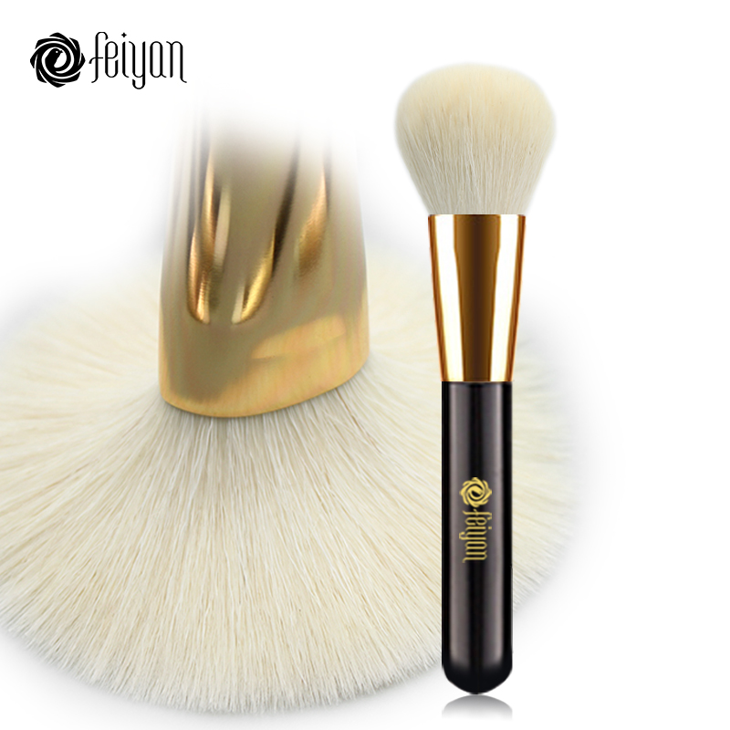 Professional Makeup Brushes 1pcs Face Loose Powder Blush Brush Soft Natural Goat Hair Big Blending Contour Bronzer Make up Brush h01 professional makeup brushes squirrel hair sokouhou goat hair powder brush walnut wood handle cosmetic tools make up brush