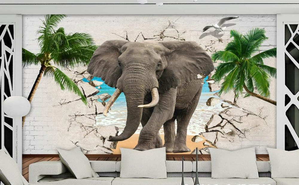 3D Elephant Wallpaper Wall Modern Children Wallpaper non-woven Photo Printing 3D Wallpaper Mural Living room Wall Decoration battlefield 3 или modern warfare 3 что