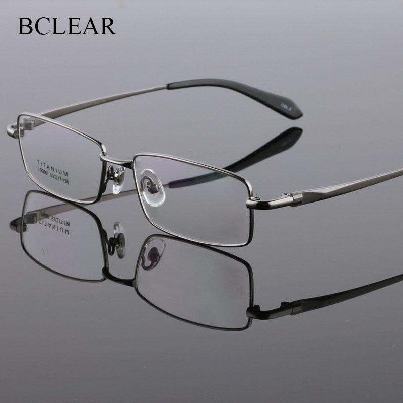 BCLEAR Full Rim Pure Titanium Eyeglasses Frame For Men Optical Glasses Frame Prescription Eyewear Spectacles 9867 Fashion Frame