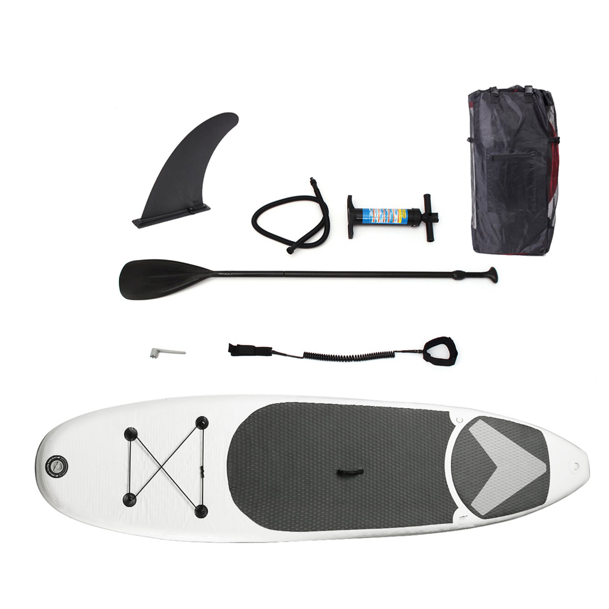 SGODDE 365*83*15 cm 12ft Portable Gonflable Surf Aileron Planche de Surf Stand Up Paddle Board - 3