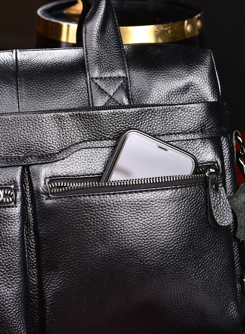 HTB1ItmgL3HqK1RjSZFgq6y7JXXay New Luxury Cow Genuine Leather Business Men's Briefcase Male Briefcase Shoulder Bag Men's Messenger Bag Tote Computer Handbag