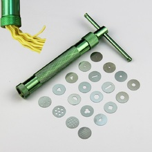 High Quality Stainless Steel Sugar Paste Extruder Craft Gun with 20 Tips Craft Fondant Cake Sculpture Polymer Clay Tools